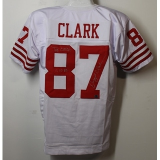 Dwight Clark Autographed San Francisco 49ers Size XL White Jersey The Catch