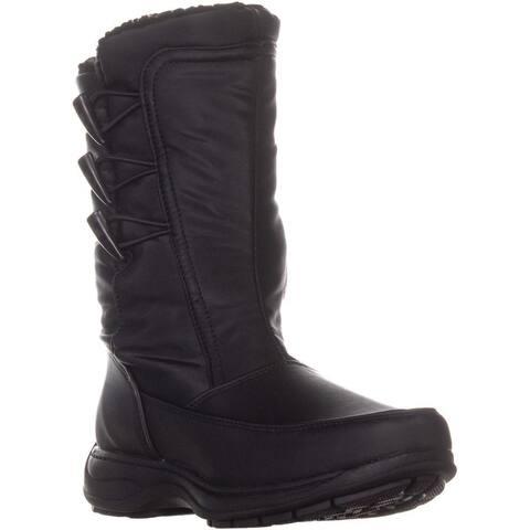 Sporto Dana Mid Calf Winter Boots, Black