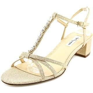 Nina Gaelle GM Women Open Toe Canvas Gold Sandals