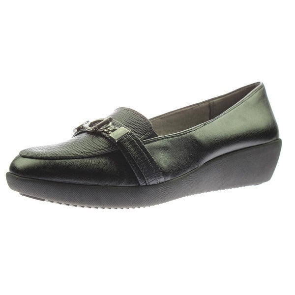 LifeStride Womens Merge Loafers Faux Leather Slip On