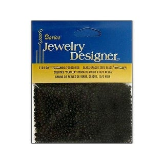 Darice JD Seed Bead 10/0 Opaque Black