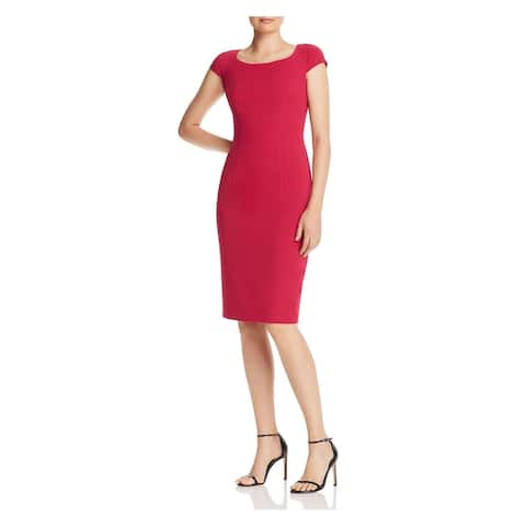BLACK HALO Pink Cap Sleeve Above The Knee Dress 8