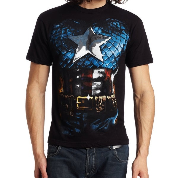 61617b09 Shop Marvel Black American Way Mens XL Crewneck Graphic Tee T-Shirt - On  Sale - Free Shipping On Orders Over $45 - Overstock - 27281426