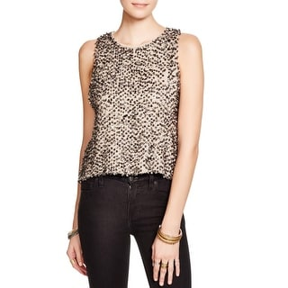 Free People Womens Pullover Top Mixed Media Sequined - xs