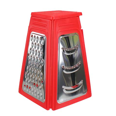 8.25 Red Collapsible Box Kitchen Grater - N/A