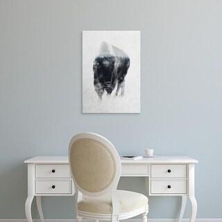 Easy Art Prints Andreas Lie's 'Bison in Mist' Premium Canvas Art