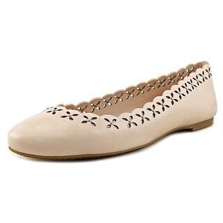 Michael Michael Kors Thalia Ballet   Round Toe Leather  Ballet Flats