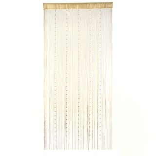 Room Decor Fringe Divider Hangings Bead String Curtain Champagne Color