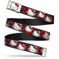 Hello Kitty Face Fcg White Chrome Frame Hello Kitty Multi Face W Web Belt