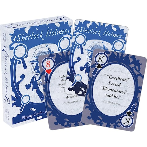 Sherlock Holmes Quotes Playing Cards - Multi