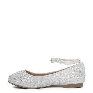 Lauren Lorraine Girls harlan Buckle Ankle Strap Slide Sandals - 2 1/2