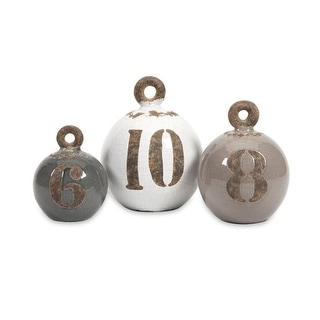 IMAX Home 18209-3 Hotham Decorative Fishing Weights - Set of 3