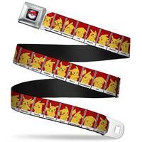 Pok Ball Full Color Black Pikachu 8 Mood Blocks Red Black White Webbing Seatbelt Belt