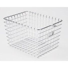 """Spectrum 47870 Small Storage Basket, 12-7/8"""" x 8-7/8"""" x 8"""", Chrome"""