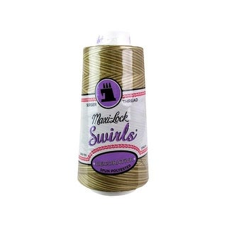 A&E Maxi Lock Swirls Thread 3000yd Butter Toffee