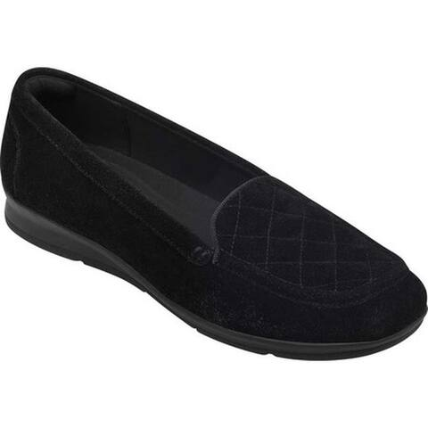 ebcde3de0 Easy Spirit Women s Wynter Quilted Loafer Black Suede