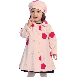 Angels Garment Toddler Little Girl Pink Flower Coat Outwear Set 2T-8