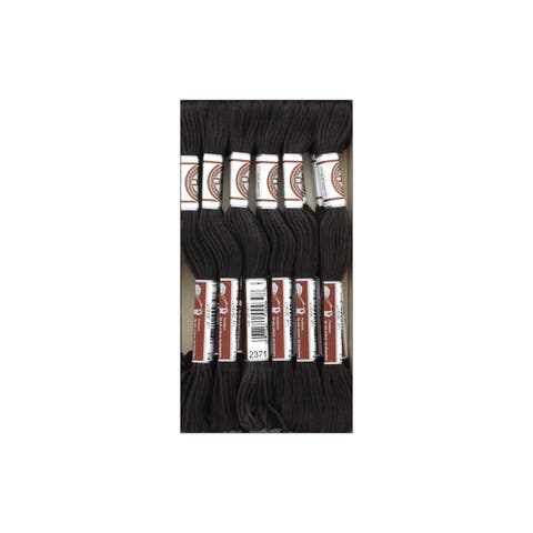 89-2371 dmc matte cotton tapestry thread black brown