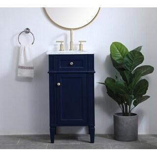 Kensington Contemporary Bathroom Vanity Cabinet Set with Marble Top