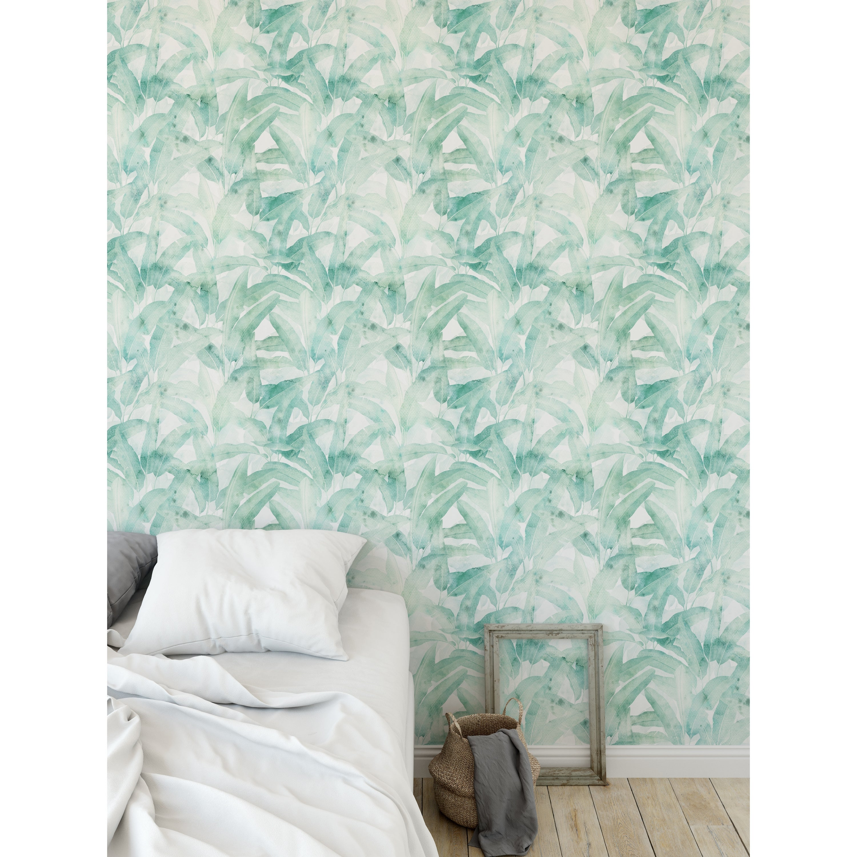 Shop Musa Aqua Green Peel And Stick Wallpaper By Kavka Designs 2 X 16 On Sale Overstock 31637979