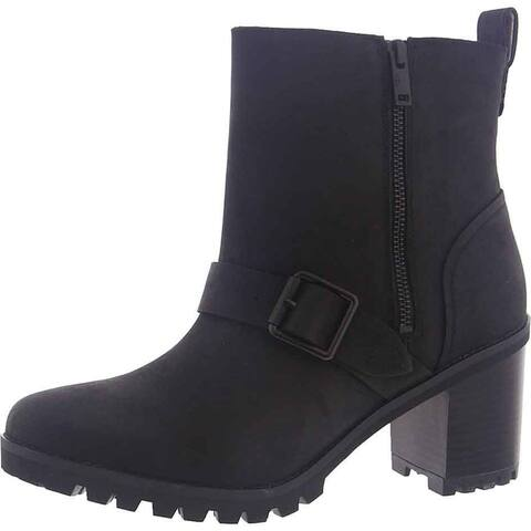 Ugg Womens Fern Ankle Boots Leather Fashion - Black