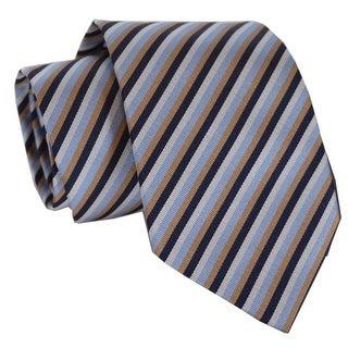 "Prada Men's UCR77 Cravatta Faille Righe Cielo Neck Tie - 2.75"""