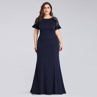 Ever-Pretty Women Plus Size Fishtail Lace Formal Evening Mother of the Bride Dress 07768