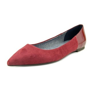 Dr. Scholl's Sidney Women Pointed Toe Suede Burgundy Flats