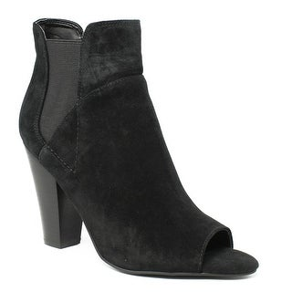 GUESS Womens Gwbesy Black Open Toe Heels Size 6