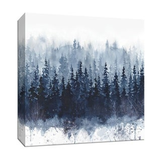 """PTM Images 9-147521  PTM Canvas Collection 12"""" x 12"""" - """"Indigo Forest"""" Giclee Forests Art Print on Canvas"""