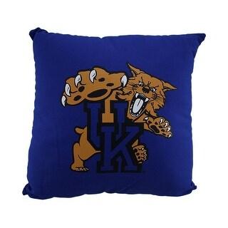 NCAA University of Kentucky Wildcats Team Color Throw Pillow 18 inch - Blue