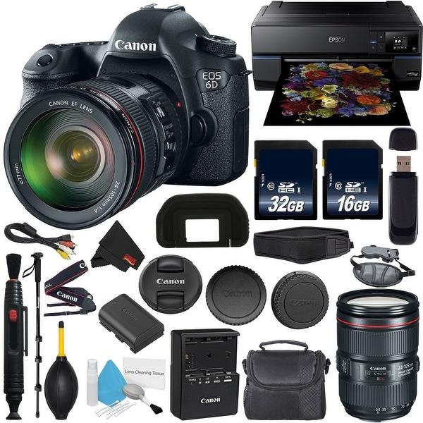 Canon EOS 6D DSLR Camera with 24-105mm f/4L Lens International Model +  Epson SureColor P800 Inkjet Printer Bundle
