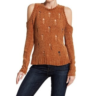 Ten Sixty Sherman Women Small Cold-Shoulder Chenille Sweater