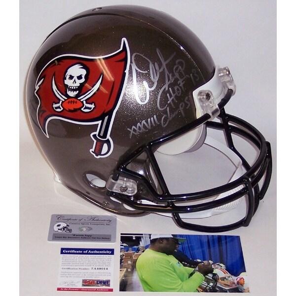 396686dd Warren Sapp Autographed Hand Signed Tampa Bay Buccaneers Full Size  Authentic Helmet - PSA/DNA