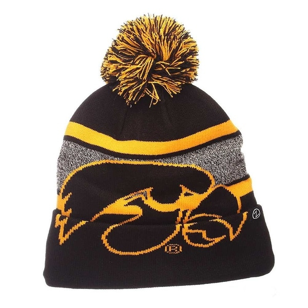 9eb04802 Shop Zephyr Hats NCAA University of Iowa Hawkeye Mammoth Knit Beanie Hat  Cap - Free Shipping On Orders Over $45 - Overstock - 19402129