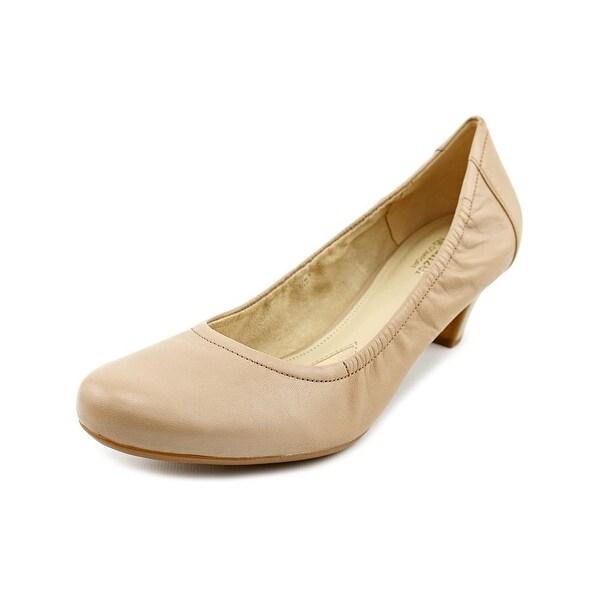 0f08b946725 Shop Naturalizer Stargaze Women Round Toe Leather Nude Heels - Free ...
