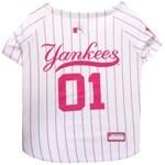 MLB New York Yankees Pet Pink Jersey