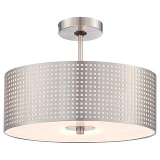 Kovacs P5747-084 3 Light Semi-Flush Ceiling Fixture from the Grid Collection