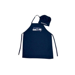 Seattle Seahawks NFL Barbecue Apron and Chef's Hat 2 pc Set Game Day Tailgating