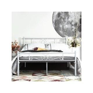 Shop Queen Size Metal Bed Frame Platform Mattress