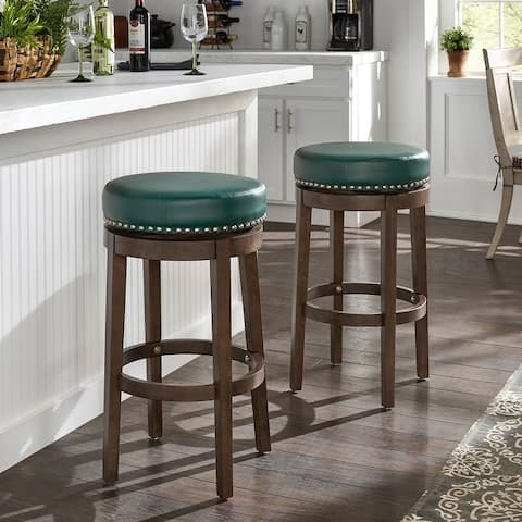 Westby Vinyl Backless Swivel Stools (Set of 2) by iNSPIRE Q Classic