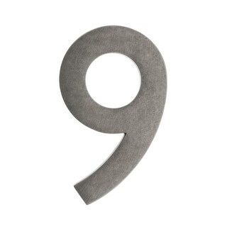 Architectural Mailboxes 3585-9 5 Inch Solid Cast Hand Finished Brass House Numbers