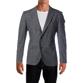 BOSS Hugo Boss Mens Wool Notch Lapel Two-Button Suit Jacket - 40R