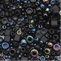 Toho Multi-Shape Glass Beads 'Borakku' Black Color Mix 8 Gram Tube - Thumbnail 0
