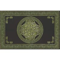 Handmade 100% Cotton Celtic Circle Wheel Of Life Tapestry Spread  Green Twin 70x106 Full 88x106 Queen 106x106 King 110x110
