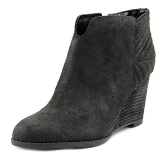 Carlos by Carlos Santana Camira Women Round Toe Canvas Black Ankle Boot