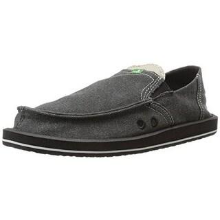 Sanuk Men's Pick Pocket Sidewalk Surfer Shoe, Charcoal, 10 M US