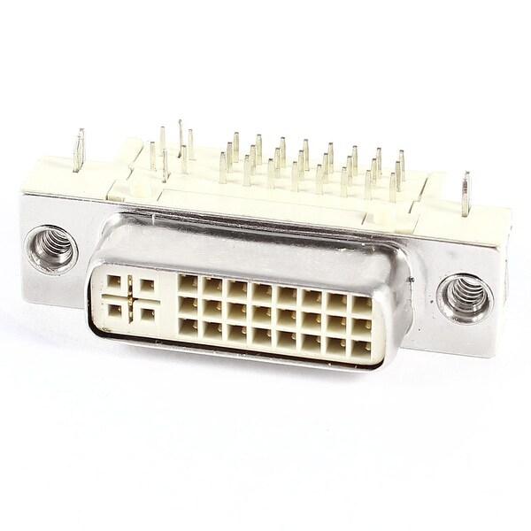 Unique Bargains PCB Mount DVI-I 24+5 Pin Female 90 Degree Connector Adapter