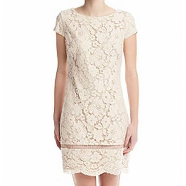 Vince Camuto New Pink Nude Floral Lace Womens Size 10 Shift Dress