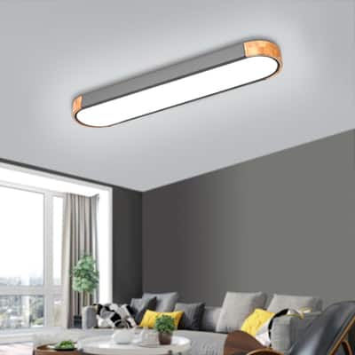 Grey Metal LED Dimmable Flush Mount